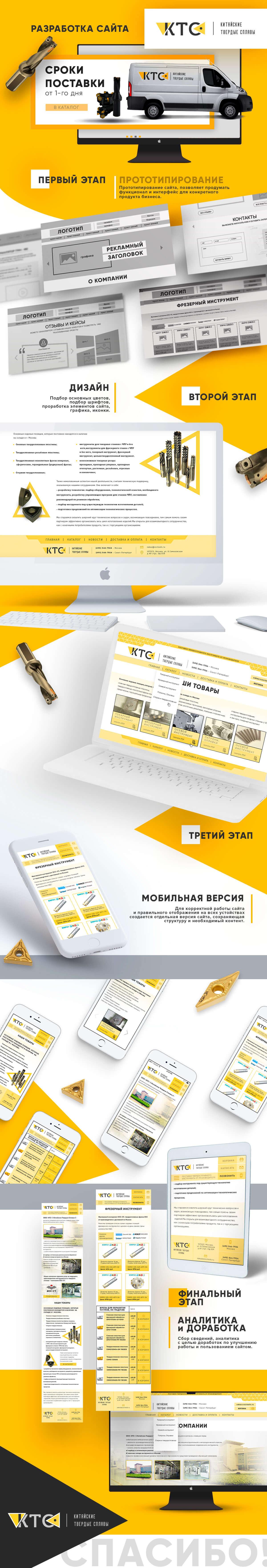 """Создание сайта для производителя твердосплавного инструмента """"КТС"""""""